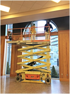 Above: the team from Tim Desmond Painting, hard at work. (Credit: Judith Mackin)