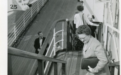 Lulu on a Cunard ship